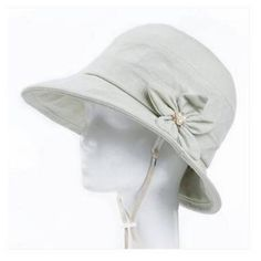 2c9f0c51ab2 Flower bucket hat with string for women summer fishing sun hats