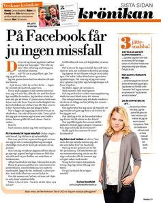 På Facebook får ju ingen missfall | Aftonbladet Psychiatry, Facebook, Stockholm, Words, Horse, Psych