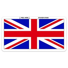 UNION JACK FLAG STICKER  x 2  Vinyl Sticker Land Rover Wolf 20 cm x 10 cm BIG