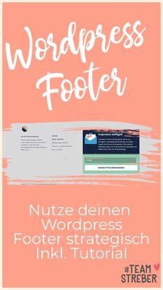 Wordpress Footer bearbeiten: lohnt sich wirklich Footer Webdesign: Easily edit with my Wordpress Tut Marketing Jobs, Online Marketing, Best Online Jobs, Web Design, Job Info, Future Jobs, Blog Layout, Instagram Blog, Blog Planner