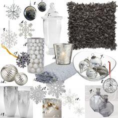 grey snowflake decor