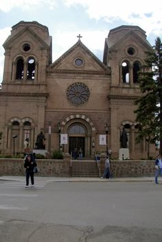 The Saint Francis Cathedral in Santa Fe, New Mexico just a hop, skip and a jump from downtown!
