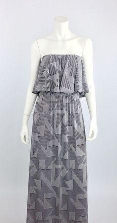 Geo Stripe Maxi Dress