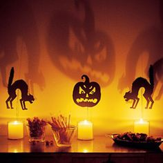 Make your own Halloween decorations with these fun and easy ideas and tutorials! can take this idea outside