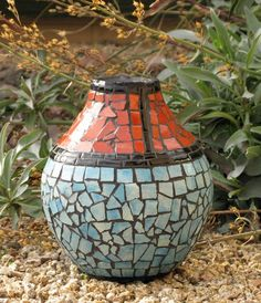 tiled clay pot