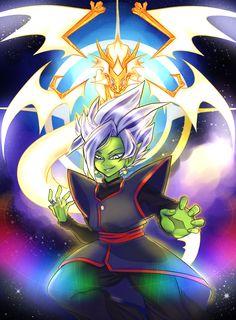 Black Goku, Dragon Ball Z, Zamasu Fusion, Merged Zamasu, Zamasu Black, Black Picture, White Boys, Anime Characters, Chibi