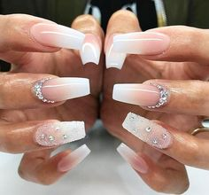20 Worth Trying Long Stiletto Nails Designs awesome 25 Fancy White Coffin Nails – Bright and Fasionable Designs Diamond Nail Designs, White Nail Designs, Diamond Nails, Nail Art Designs, Nails With Diamonds, Awesome Nail Designs, Coffin Nail Designs, Acrylic Nail Designs, Long Stiletto Nails