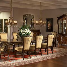 Imperial Court| Michael Amini Furniture Designs | Amini.com Formal Dining  Tables, Dining