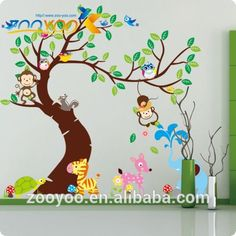 zooyoo xxl Tiere vinyl baum abnehmbar zimmer wohnkultur kunst wandtattoo aufkleber wandbild zy1214-Aufkleber-Produkt ID:1899134885-german.alibaba.com