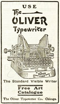 Digital Download - Antique Typewriter Advertisement by KnickofTime