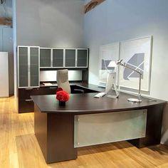 Modern Contemporary Office Desks and Furniture - Executive Office, Glass, Italian Desks Contemporary Office Desk, Modern Office Desk, Office Workspace, Office Table, Small Office, Home Office Desks, Contemporary Furniture, Office Decor, Modern Contemporary
