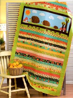 Happy Hedgehogs - quilt pattern by Two Brown Birds