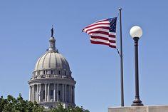 Oklahoma State Capitol building in Oklahoma City.