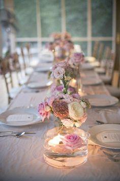 composition florale centre de table comment decorer une table mariage nos idees