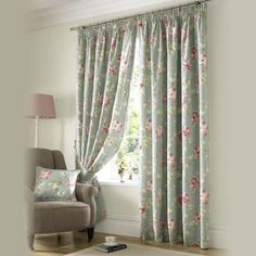 Ashley Wilde Sorbet 'Apsley' fully lined pencil pleat curtain- | Debenhams