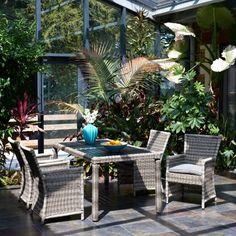 Salon de jardin Luxe HAUSSMANN en aluminium et résine tressée de ...