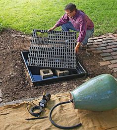 Learn How to Make This Amazing Garden Fountain Bubbling fountains bring life to any outdoor space. Install one this weekend and enjoy it for years to come. Rock Fountain, Diy Fountain, Fountain Design, Backyard Water Feature, Ponds Backyard, Backyard Waterfalls, Garden Ponds, Koi Ponds, Diy Water Feature