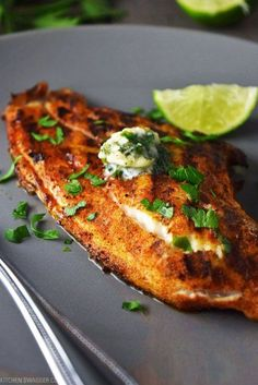 Blackened Salmon with Cilantro Lime Butter