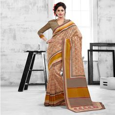 Fancy Art Silk Casual Wear Printed Saris