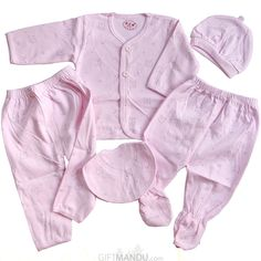 7ff8b655436 Baby Clothes Set For New Born Baby (5 items) - Pink