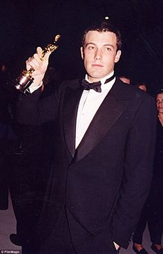 Heady times: Affleck found fame with the 1997 film Good Will Hunting which earned him and co-star Damon an Academy Award each for original screenplay. Four years later he voluntarily entered rehab for, he said in 2012, 'partying too much and not having a lot of boundaries'