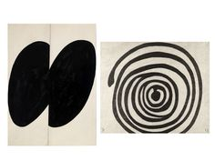 Ellsworth Kelly Black Forms 1955 ink, graphite and collage on paper & Louise Bourgeois 2005