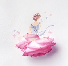 Simple pattern of tawashi sponge in Creative bubble from Rico Design and acr . Flower Fashion, Fashion Art, Flower Petals, Flower Art, Illustration Blume, Rico Design, Cute Cartoon Wallpapers, Creative Art, Cute Art