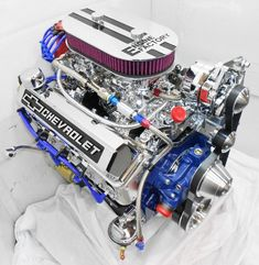 Engine Factory - Chevy 383 Stroker with Dual Quad Carbs Ls Engine, Motor Engine, Chevy Crate Engines, Motor Ap, Chevy Motors, 72 Chevy Truck, Crate Motors, Performance Engines, Race Engines