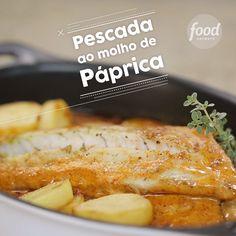 Para os amantes de peixes, essa é uma deliciosa receita de pescada ao molho de páprica Chef Recipes, Fish Recipes, Seafood Recipes, Food Network Recipes, Cooking Recipes, Healthy Recipes, Fast Dinners, Vegan Dinners, Tandoori Masala