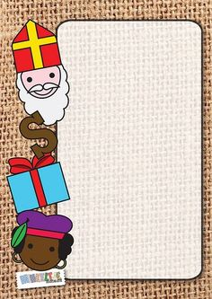 Sinterklaas! Page Boarders, Christmas Perler Beads, Printable Frames, Borders And Frames, Christmas Time, Illustration, Diy And Crafts, Saints, Merry
