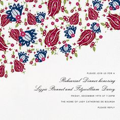 Folk Floral by Oscar de la Renta for Paperless Post.  Available on paper and online. Customize your wedding save the date to match your personal style on paperlesspost.com.