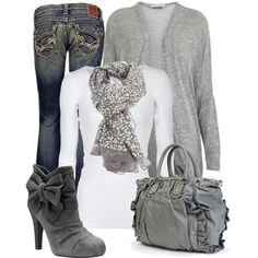 More gray - cute boots :)