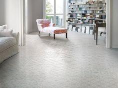 Pale geometric tiles