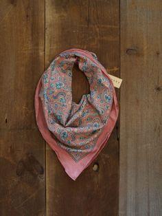 SALE / Vintage Scarf / Cotton Scarf / Large by littleedenvintage, $14.00