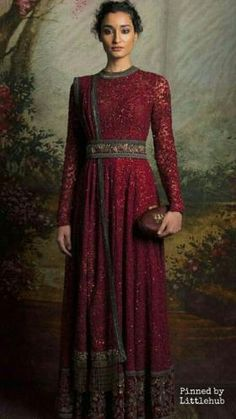 Sabyasachi is the one designer whose designs are being worn by in India and Pakistan. So if you want to wear a wedding dress go for Anarkali dresses designed by him Sabyasachi Suits, Bridal Anarkali Suits, Anarkali Dress, Indian Bridal Wear, Indian Wedding Outfits, Bridal Outfits, Indian Outfits, Wedding Dress, Indian Gowns Dresses