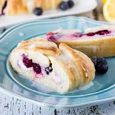 Blueberry Lemon Cream Cheese Bread