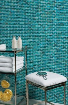 Aqua Tiles For A Spa Bathroom