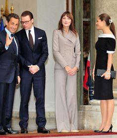 With Nicolas Sarkozy, Princess Victoria, and Prince Daniel of Sweden, in Paris, France.