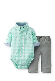 Carter's®️️ 2-Piece Check Bodysuit and Pant Set