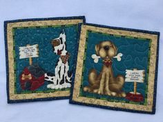 Quilted Dog Rug Mugs Quilted Snack Mat Mini by PatsPassionQuilteds