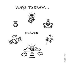 What a heavenly day today. Word of day 23 #waystodraw #heaven #simple #drawing #visualvocabulary