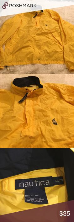 👕Vintage Nautica Windbreaker👕 Vintage Nautica Windbreaker. Like New. Size XXL. Has an adjustable string at the bottom. Nautica Shirts Sweatshirts & Hoodies