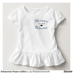 Submariner Prayer toddler ruffle tee
