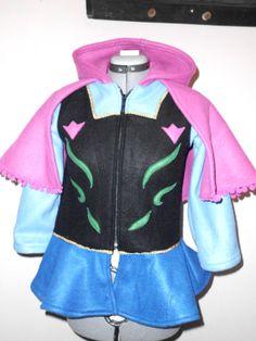 Frozen Anna Disney Look Hooded Fleece Jacket