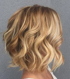 Curled Bob For Fine Hair