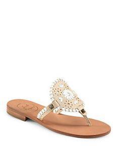 Jack Rogers - Georgica Leather Thong Sandals