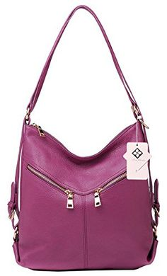 3b5e516983 Amazon.com  Tom Clovers Womens Fashionable Soft Genuine Leather Backpack  Shoulder Travelling Bag Handbag Brown  Shoes