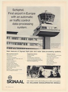 1969 Schiphol Airport Signaal SATCO Air Traffic Control Data-Processing Sys Ad
