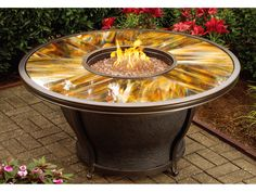 propane fire pits with stone base | Oriflamme Fire Table Santa Fe ...