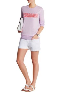 Markus Lupfer Mermaid sequined cotton-blend sweater worn by Chanel #5 on Scream Queens.